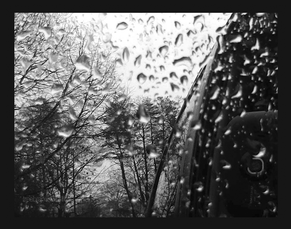 Photography of rain in a reflection