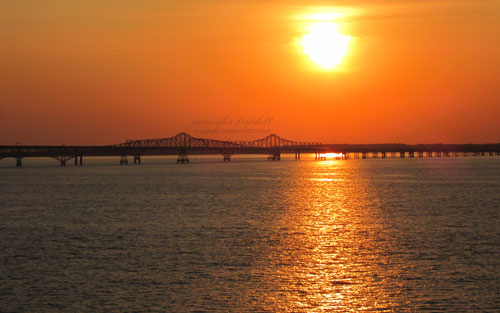 Chesapeake bay bridge Sunrise
